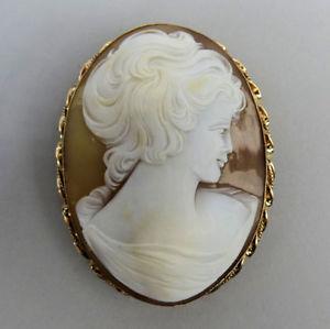 【送料無料】ネックレス ファインkゴールドシェルカメオブローチバーミンガムグラムfine 9 k gold shell cameo brooch birmingham 1994 191 grams