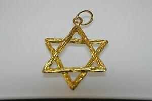 【送料無料】ネックレス デビッドペンダント9ct star of david pendant