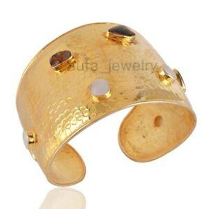 【送料無料】ネックレス ゴールドメッキマベパールシルバーカフブレスレット18k gold plated ammolite and mabe pearl silver hammered cuff bracelet