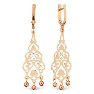 【送料無料】ネックレス ローズゴールドイヤリング58514 ct rose gold earrings