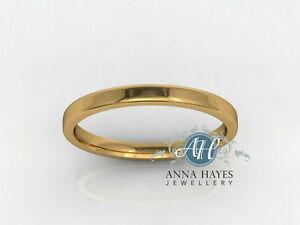 【送料無料】ネックレス イエローゴールドレディースフラットトップリングハンドメイド¥グラム2mm 18ct yellow gold ladies flat top ring handmade genuine rrp 239 25 grams