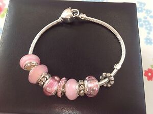 送料無料 ネックレス lovelinksaagaardピンクムラノチャームセットlovelinksby aagaard pink murano charm bracelet gift setkXnwO80P
