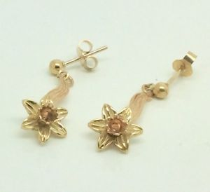 与え 送料無料 ネックレス ゴールドラッパスイセンイヤリング9ct gold clogau daffodil earrings オンラインショップ