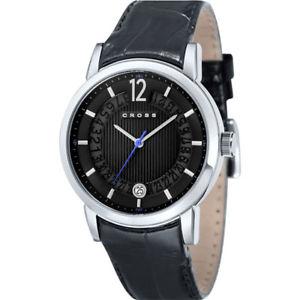 【送料無料】 腕時計 クロスカンブリアレザーストラップウォッチcrnp cr800601 cross gents cambria date display leather strap watch