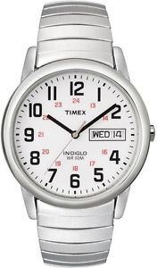 【送料無料】 腕時計 listingtimex t20461リーダsilvertoneindiglo listingtimex t20461, easy reader, mens, silvertone expansion watch, indiglo, dayda