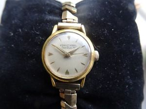 【送料無料】 腕時計 1960s ernest borel sea gem17gpladies wind up wrist watch worksswiss1960s ernest borel sea gem 17 gp ladies wind up wrist
