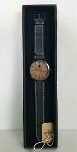 【送料無料】 腕時計 レディースサンダルウッドボックスブラックウォッチバックル