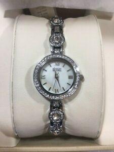 【送料無料】 腕時計 badgley mischka ba1397mpsv23mmアクセント*nwt*badgley mischka ba1397mpsv womens 23mm silver tone crystal accent watch *nwt*