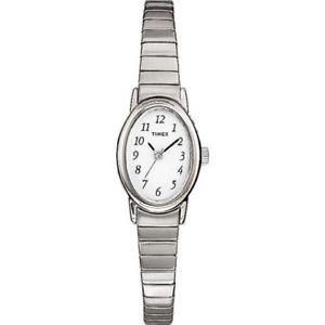 【送料無料】 腕時計 レディースステンレススチールストレッチladies timex cavatina oval silver stretch expansion stainless steel watch t21902