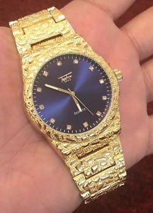 【送料無料】 腕時計 orignalmens 14kゴールドhiphopbrand with orignal box mens 14k gold plated hiphop watch