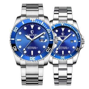 【送料無料】 腕時計 カップルクオーツ2セットcouple watches classic silver stainless quartz date his and hers gifts set of 2