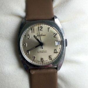 【送料無料】 腕時計 listingjustinaコードマニュアルヴィンテージウォッチ307mm listingjustina cord manual vintage watch 30,7 mm working