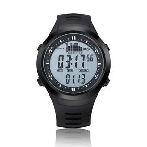 【送料無料】 腕時計 スポーツディジタルfishing watch barometer thermometer altimeter men sports digital wristwatches