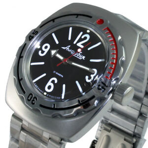 【送料無料】 腕時計 ボストークスキューバダイビングオリジナルロシアamfibia090913*mvostok amphibian, scuba diving original design russian watches amfibia 090913*m