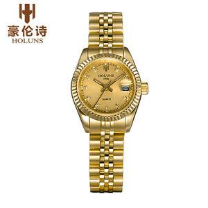 【送料無料】 腕時計 holunsステンレスビジネスholuns luxury lady quartz watch stainless steel business women wristwatch