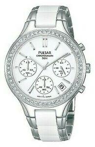 【送料無料】 腕時計 パルサースワロフスキークロノグラフpt3305x1pnppulsar ladies swarovski chronograph bracelet watch pt3305x1pnp