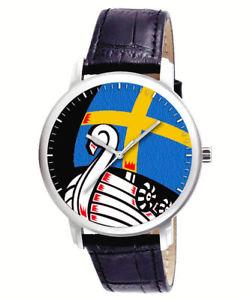 【送料無料】 腕時計 beautiful seablue viking ship scandinavian art collectible wristwatchbeautiful seablue viking ship scandinavian art collec