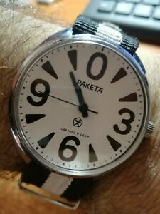【送料無料】 腕時計 raketa paketa0ドイツサイズヴィンテージraketa paketa big zero wrist, germany watch big size vintage men