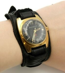 【送料無料】 腕時計 ボストークkomandirskieヴィンテージソビエトrussianvostok komandirskie vintage gold plated soviet army russian military watch
