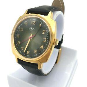 【送料無料】 腕時計 ビンテージフードサービスソソウォッチvintage gold plated green sphere food service ussr soviet watch au10