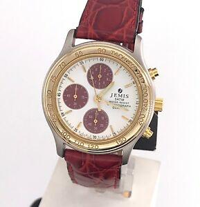 【送料無料】 腕時計 ヴィンテージクロノグラフミリnos jemis cal vd55a vintage watch quartz chronograph 38 mm mag2
