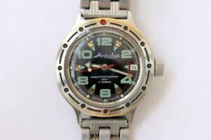 【送料無料】 腕時計 200メーターソwostok amfibian amphibiaダイバーsoviet watch watch wostok amfibian amphibia diver watch automatic 200 metres