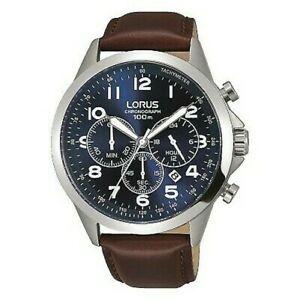 【送料無料】 腕時計 クロノグラフレザーストラップウォッチlorus gents chronograph leather strap watch rt379fx9