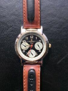 【送料無料】 腕時計 nosrohtarスポーツヴィンテージマンnos rohtar sport leather quartz watch watch vintage man