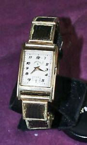 【送料無料】 腕時計 ドlord elgin c1950 14k oro llenado hombre 17 joyas curvado esfera reloj de pulsera