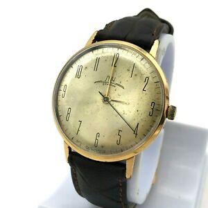 【送料無料】 腕時計 ビンテージスリムソストラップvintage luch slim costume ussr watch vympel gold plated au20 original men strap