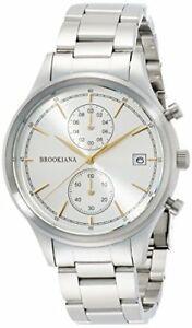 【送料無料】 腕時計 brookianaクロノグラフクロノグラフ×ba2306sgmsvbrookiana chronograph date chronograph silver × silver metal ba2306sgmsv