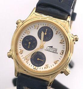 【送料無料】 腕時計 ヴィンテージクオーツクロノグラフミリnos lotus 9681 cal 6w60 vintage watch quartz chronograph 31 mm mag2