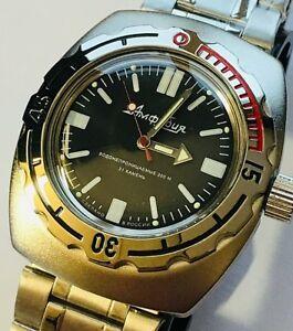 【送料無料】 腕時計 200mボストークrussianダイバー0909161967vostok amphibian russian diver watch automatic 200 m 090916 design 1967
