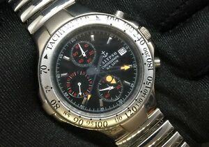 【送料無料】 腕時計 カリュプソークロノグラフカレンダーchronoスチールクオーツ37mmブラックウォッチウォッチ