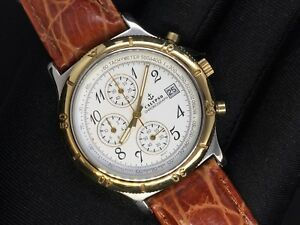 【送料無料】 腕時計 カリュプソークロノグラフカレンダーchronoスチール387mmcalypso chronograph calendar chrono steel quartz watch leather 38,7mm watch
