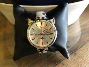 【送料無料】 腕時計 アニマルプリントアクセントboum miaou cat womens animal print cat accent quartz watch bm3204