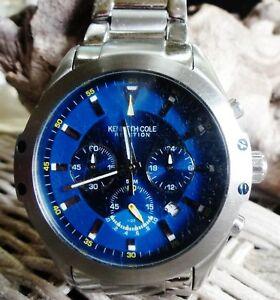 【送料無料】 腕時計 ケネスコレクションクロノグラフステンレススチールブレスレットkenneth cole collection chronographdate stainless steel bracelet watch