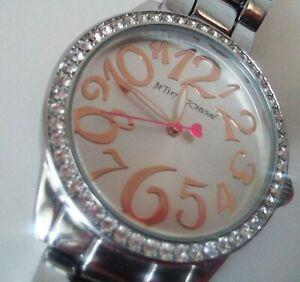 【送料無料】 腕時計 blingrare betsey johnsonbjs0019040gorgeous rare betsey johnson crystal bling watch rose gold silver bjs0019040