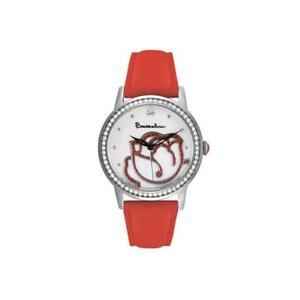 【送料無料】 腕時計 womensbraccialini brd 809sbrスワロフスキーwomens wristwatch braccialini brd 809sbr leather red swarovski