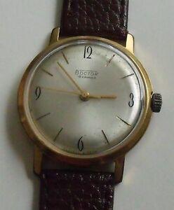 【送料無料】 腕時計 ビンテージヴォストークユダヤvintage vostokwostok 18jewgold plated20 mikrons wrist watchmen,s