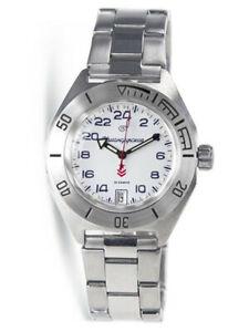 【送料無料】 腕時計 ヴォストークvostok komandirskie 650546 reloj 24 horas automtico ruso reloj mueca blanco