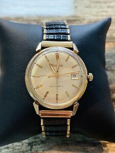 【送料無料】 腕時計 ブローヴァ10km9 11blacd32mmvtgbulova automatic 10k gold filled m9 11blacd date 32mm vtg watch runs well