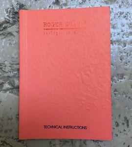 【送料無料】 腕時計 ロジャーdubuis rareマニュアルrd03rd 29rd 39 nosroger dubuis rare technical manual instructions booklet rd 03 rd 29 rd 39 nos