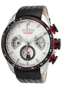 【送料無料】 腕時計 メンズレッドラインレジスタンスクロノグラフブラックレッドボックス