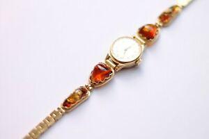 【送料無料】 腕時計 rare ladies bracelet amber watchчайкаfiligree windup004rare ladies bracelet amber watch чайка filigree windup 004
