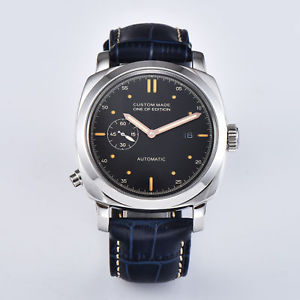 【送料無料】 腕時計 parnis44mmケースq036wristwatch parnis automatic men watch luxury 44mm military silver case q036
