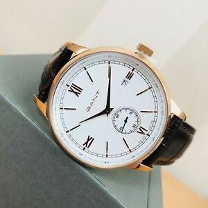【送料無料】 腕時計 rrp 195 eurgantフリーポートアナログrrp 195 eur men's gant rose gold plated freeport analogue watch