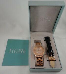 【送料無料】 腕時計 ローズゴールドスターリングシルバーウォッチecclissi rose gold sterling silver watch 33761
