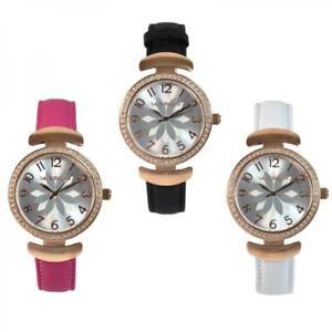 【送料無料】 腕時計 womenslaura biagiotti flowerホワイトフクシャスワロフスキー