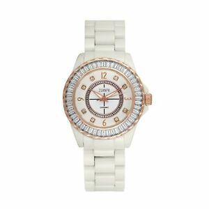 【送料無料】 腕時計 キュービックジルコンセラミックウォッチcubic zircon ceramic watch